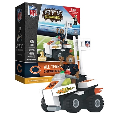 NFL ATV with Mascot: Chicago Bears 85pc Building Block Set