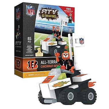 Ensemble de 85 blocs de construction de la NFL, véhicule tout-terrain avec la mascotte des Bengals de Cincinnati