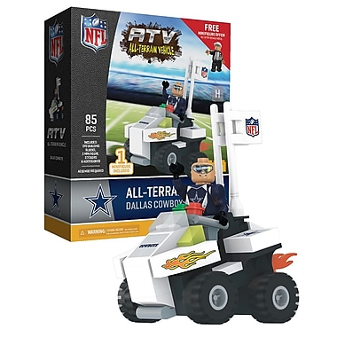 NFL ATV with Super Fan: Dallas Cowboys 85pc Building Block Set