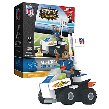 NFL ATV with Mascot: Detroit Lions 85pc Building Block Set