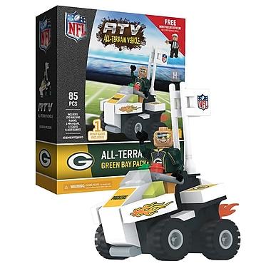 NFL – Ensemble de 85 blocs de construction pour véhicule tout-terrain avec supporteur, Packers de Green Bay