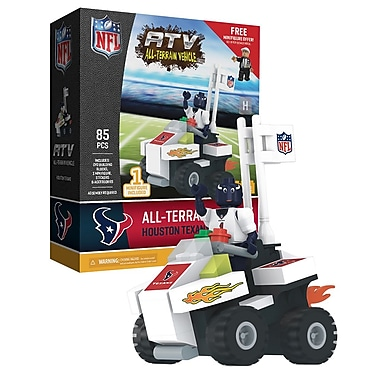 NFL ATV with Mascot: Houston Texans 85pc Building Block Set