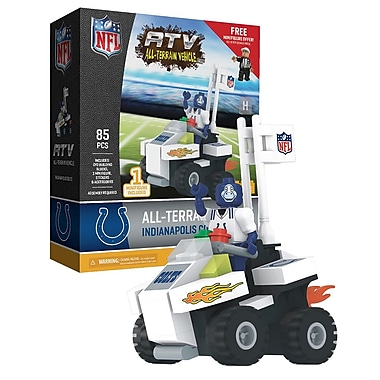 NFL ATV with Mascot: Indianapolis Colts 85pc Building Block Set