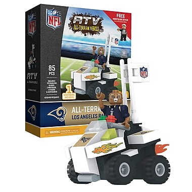 NFL ATV with Mascot: Los Angeles Rams 85pc Building Block Set