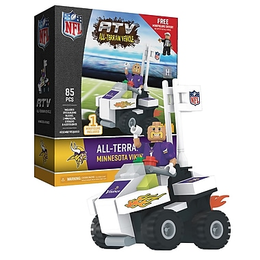 NFL ATV with Mascot: Minnesota Vikings 85pc Building Block Set