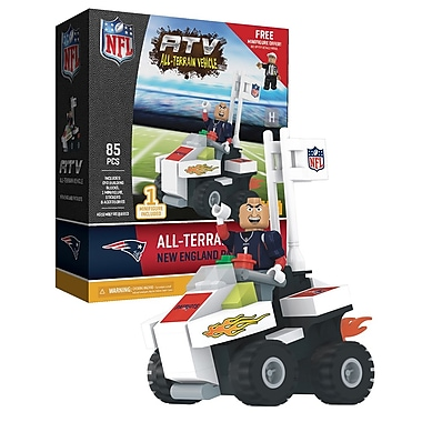 NFL ATV with Mascot: New England Patriots 85pc Building Block Set