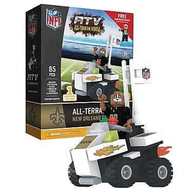 NFL ATV with Mascot: New Orleans Saints 85pc Building Block Set