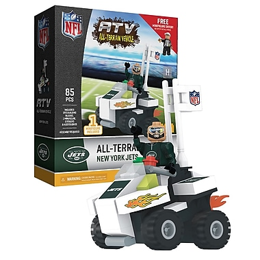 NFL ATV with Super Fan: New York Jets 85pc Building Block Set