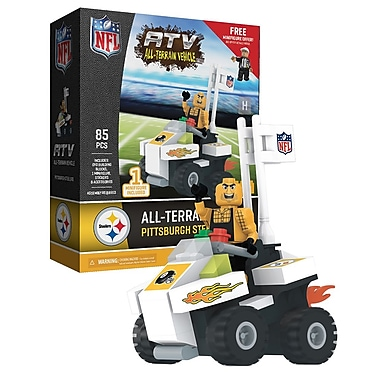 NFL ATV with Mascot: Pittsburgh Steelers 85pc Building Block Set