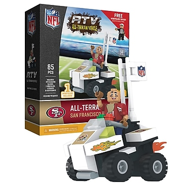 NFL ATV with Mascot: San Francisco 49ers 85pc Building Block Set