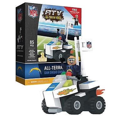 NFL ATV with Mascot: San Diego Chargers 85pc Building Block Set