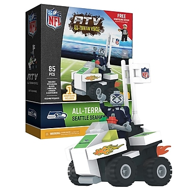 NFL ATV with Mascot: Seattle Seahawks 85pc Building Block Set