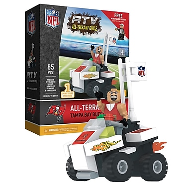 NFL ATV with Mascot: Tampa Bay Buccaneers 85pc Building Block Set