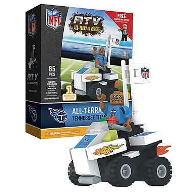 NFL ATV with Mascot: Tennessee Titans 85pc Building Block Set