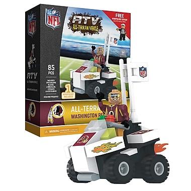 NFL – Ensemble de 85 blocs de construction pour véhicule tout-terrain avec supporteur, Redskins de Washington