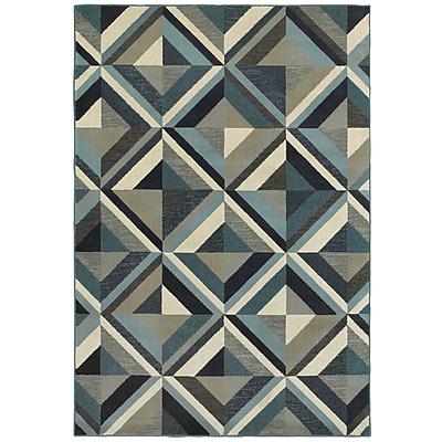 George Oliver Dracut Geometrico Blue Area Rug; 1'10'' x 3'