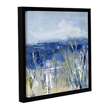 Highland Dunes 'Winter Beach' Framed Print on Canvas; 18'' H x 18'' W x 2'' D