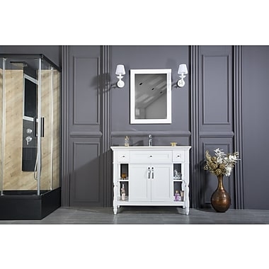 Highland Dunes Burbank 42'' Single Bathroom Vanity Set w/ Mirror