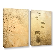 Highland Dunes 'I Carried You' 2 Piece Graphic Art Print Set on Canvas; 24'' H x 32'' W x 2'' D