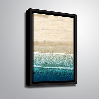 Highland Dunes 'Jupiter Beach' Framed Graphic Art Print on Canvas; 18'' H x 10'' W x 2'' D