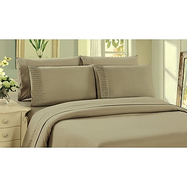 Red Barrel Studio Kegan 4 Piece Rayon from Bamboo Sheet Set; Taupe