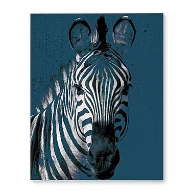 Harriet Bee 'Zebra Blue' Graphic Art Print on Canvas; 36'' H x 24'' W x 1.5'' D
