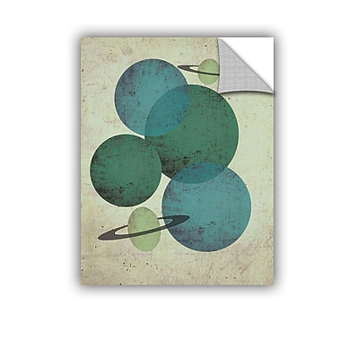 ArtWall Planets II Wall Decal; 18'' H x 14'' W x 0.1'' D