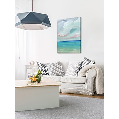 Highland Dunes 'Ocean Scape' Painting Print on Wrapped Canvas; 45'' H x 30'' W x 1.5'' D