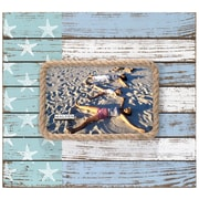 Highland Dunes Coastal Flag Rope Border Picture Frame