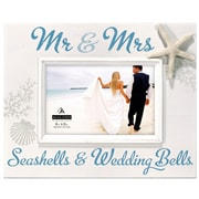 Highland Dunes Mr and Mrs. Seashells Picture Frame