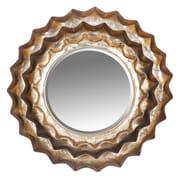 Ivy Bronx Sunburst Metal Accent Wall Mirror; 21'' H x 21.5 '' W x 1'' D