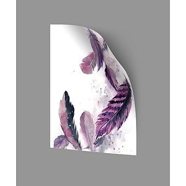 ArtWall Feathers III Wall Decal; 18'' H x 14'' W x 0.1'' D