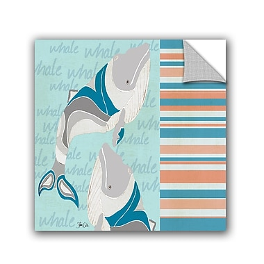 ArtWall Nautical Whales Wall Decal; 10'' H x 10'' W x 0.1'' D
