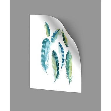 ArtWall Majestic Feathers III Wall Decal; 32'' H x 24'' W x 0.1'' D