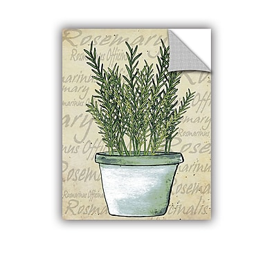 ArtWall Rosemary Wall Decal; 10'' H x 8'' W x 0.1'' D