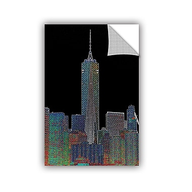 ArtWall New York Neon Style Wall Decal; 48'' H x 32'' W x 0.1'' D