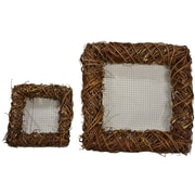 Loon Peak 2 Piece Square Twig Wreath Set; Natural