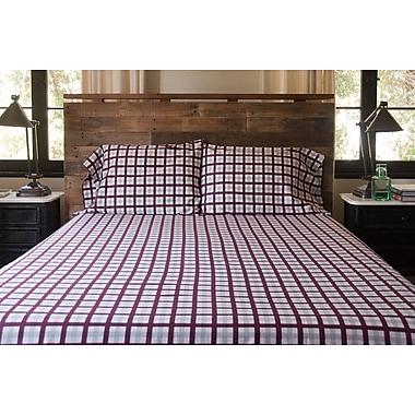 Loon Peak Bulma Tattersall Matte 300 Thread Count Sateen 100pct Cotton Sheet Set; Twin