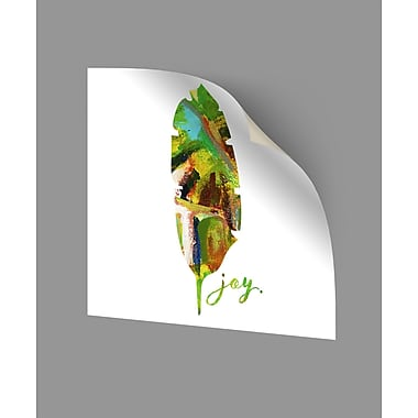 ArtWall Joy Leaf Wall Decal; 10'' H x 10'' W x 0.1'' D
