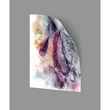 ArtWall Feathers V Wall Decal; 48'' H x 36'' W x 0.1'' D