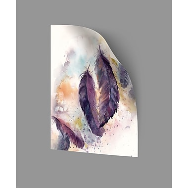 ArtWall Feathers VII Wall Decal; 32'' H x 24'' W x 0.1'' D