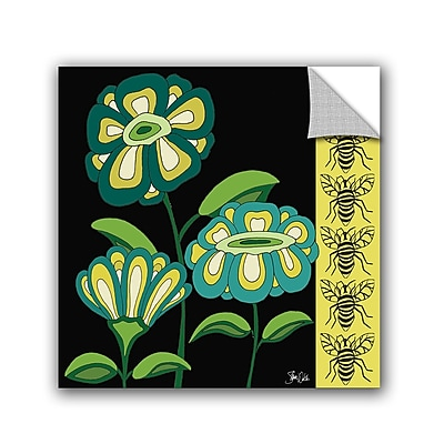 ArtWall Floral and Bees Wall Decal; 10'' H x 10'' W x 0.1'' D