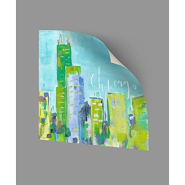ArtWall Chicago Wall Decal; 24'' H x 24'' W x 0.1'' D
