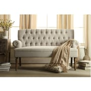 Ophelia & Co. Reese Tufted Loveseat; BEIGE