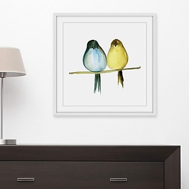 Latitude Run 'Lovebirds' Framed Painting Print; 24'' H x 24'' W x 1.5'' D