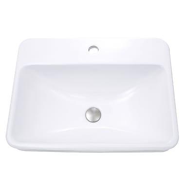 Nantucket Sinks Rectangular Self Rimming Bathroom Sink