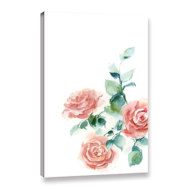 Ophelia & Co. 'Peachy Petals' Print on Canvas; 36'' H x 24'' W x 2'' D