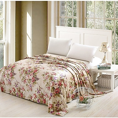 Ophelia & Co. Theo Luxurious Oversized Printed Super Soft Plush Flannel Throw