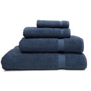 Red Barrel Studio Herringbone Weave 100pct Turkish Cotton 4 Piece Towel Set; Midnight Blue