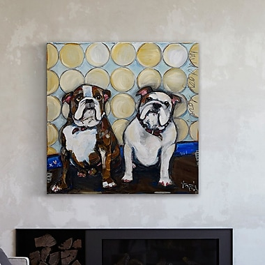 Red Barrel Studio 'Loyal Friends' Painting Print on Wrapped Canvas; 40'' H x 40'' W x 1.5'' D